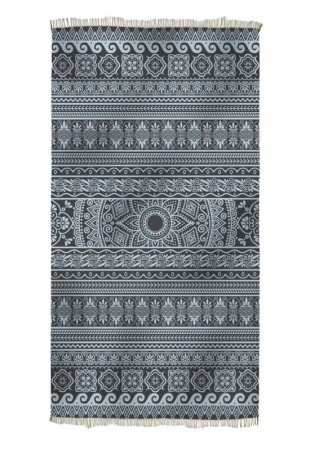 ELLINIKO, Beach towel,  BLACK & MINT | HAMMAM HÅNDKLE