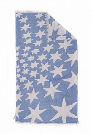 STARS, Beach towel,BLUE JEAN | HAMMAM HÅNDKLE
