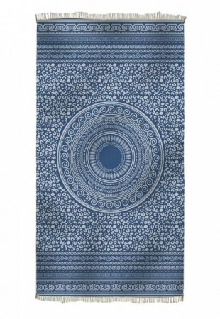 KNOSOS Beach towel, NAVY BLUE  | HAMMAM HÅNDKLE